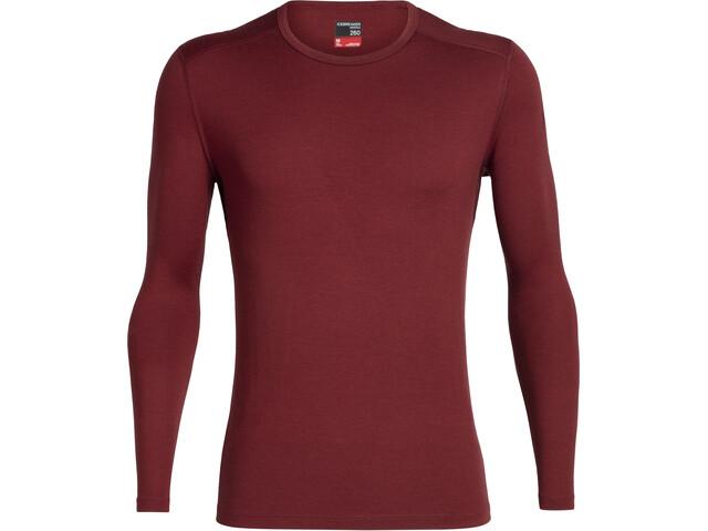 Icebreaker 260 Tech LS Crewe Shirt Men cabernet